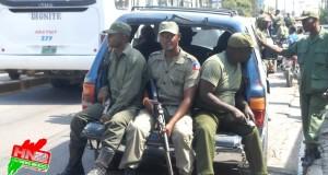 Des anciens militaires haïtiens dans les rues de Port-au-Prince et de Pétion-ville   PHOTO : Emmanuel E. Cantave – Haitinews2000 ©