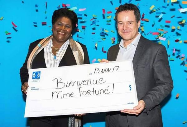Marie Margareth Fortuné a visité Loto-Québec pour s'inspirer du succès de cette institution